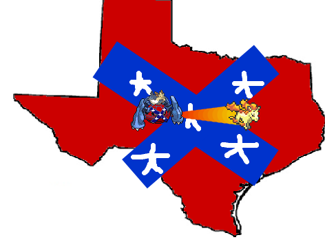 Capture the Confederate Flag Robert E. Stoutland Metagross Rapidash Texas
