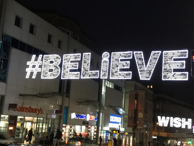 Believe christmas lights in brighton