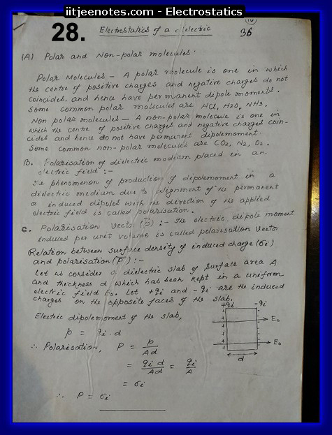 electrostatics numericals