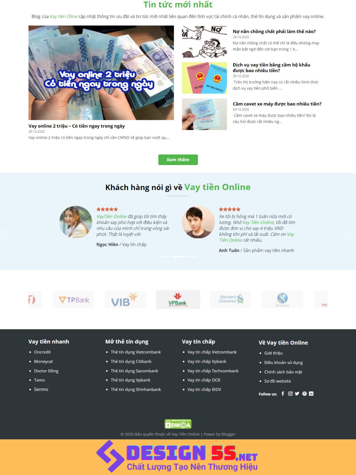 Theme blogspot dịch vụ cho vay tiền online VSM76 - Ảnh 2