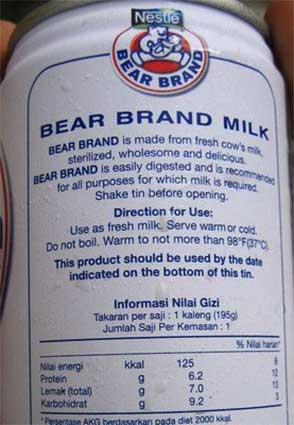 Manfaat dan Daftar Harga Susu Bear Brand Mei 2019