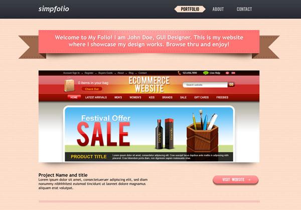 12 free portfolio psd templates mow design graphic for Pr portfolio template