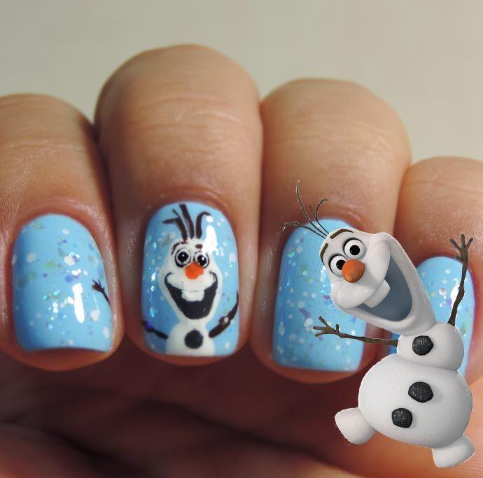 Diseño De Uñas Frozen Disney Nail Art Ideal Para Navidad ε