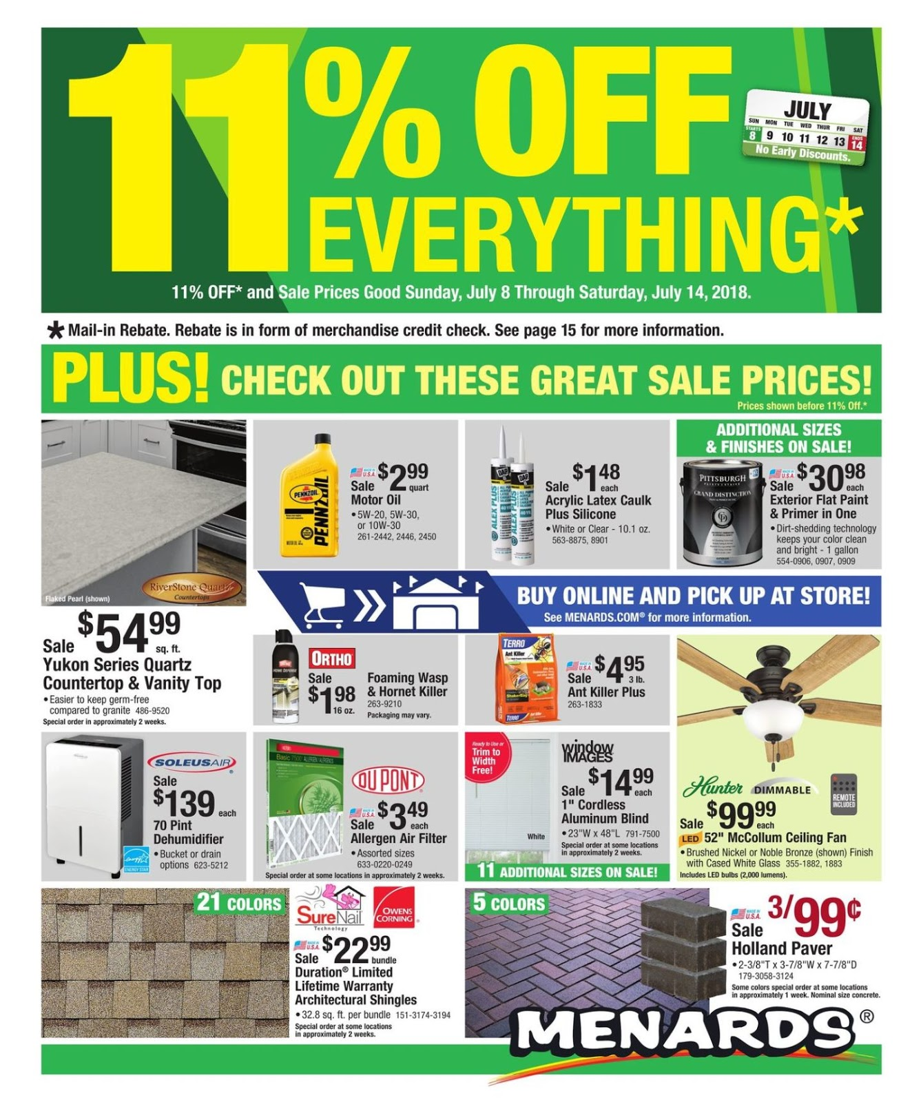 Menards sales flyers / Valentain day