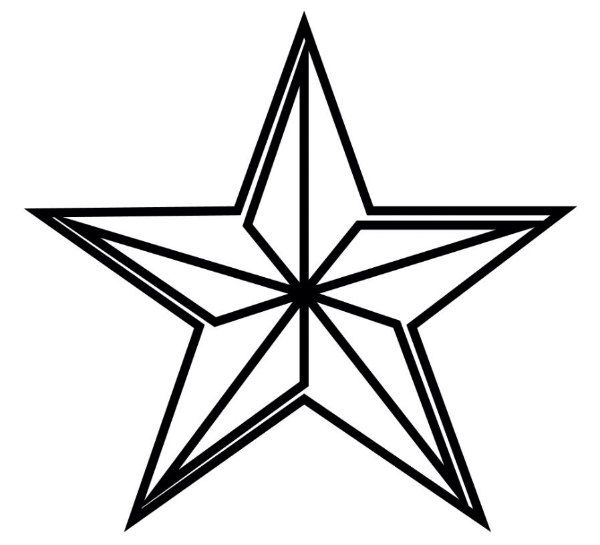 geometric star printable