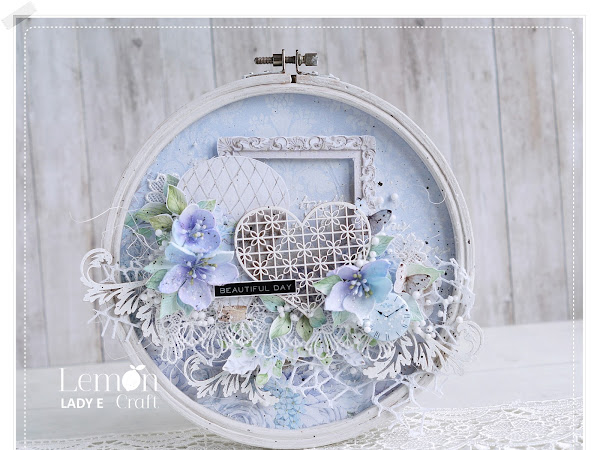 Shabby chic Altered Embroidery Hoop & Video Tutorial