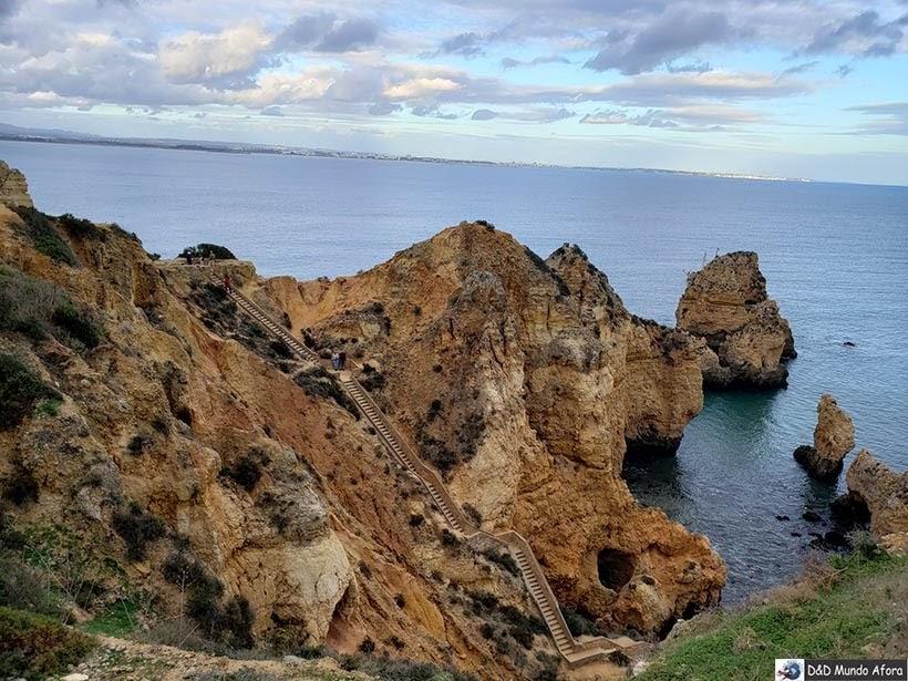 Escadaria da Ponta da Piedade em Lagos, Algarve