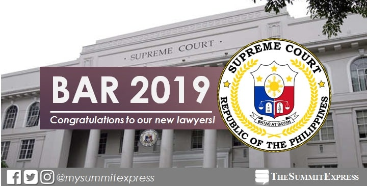LIVE UPDATES: SC releases 2019 bar exam results today