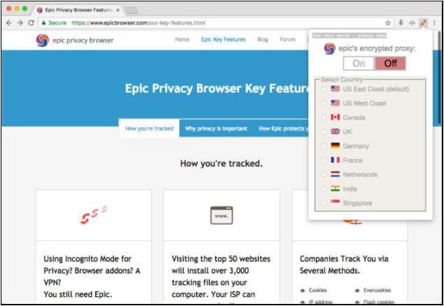 متصفح, ويب, خاص, لتصفح, الانترنت, بخصوصية, تامة, ومنع, التتبع, Epic ,Privacy ,Browser
