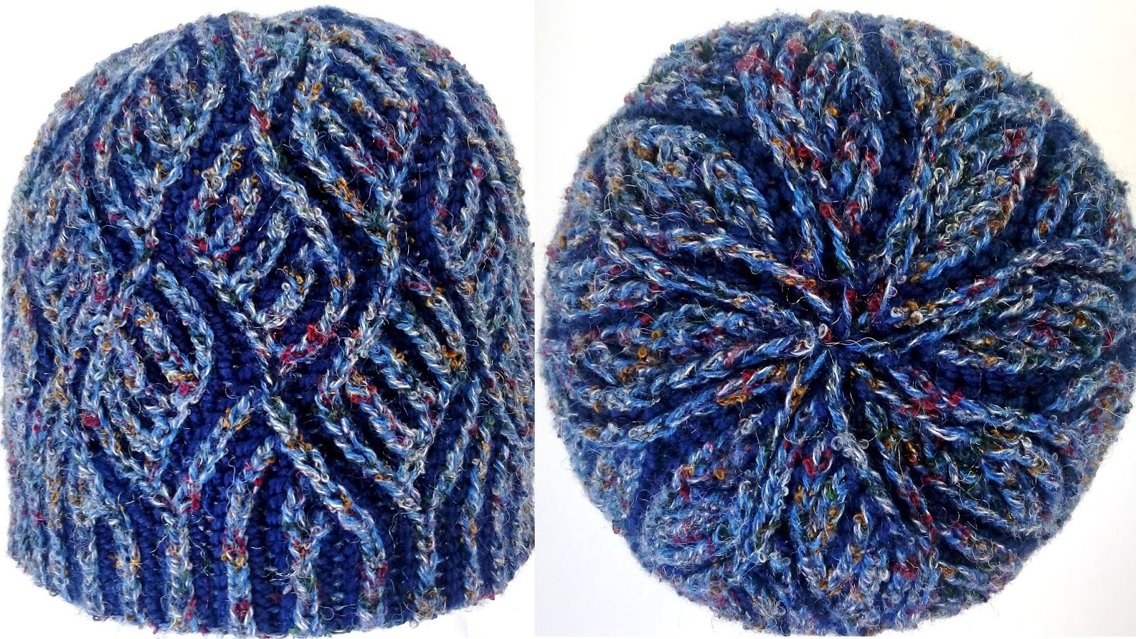 Diamonds Hat - Brioche Knitting