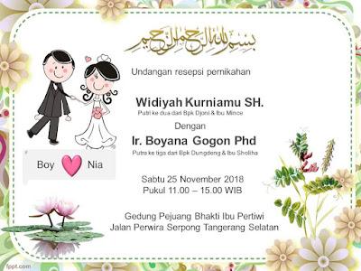undangan pernikahan ppt lucu dan imut silahkan download