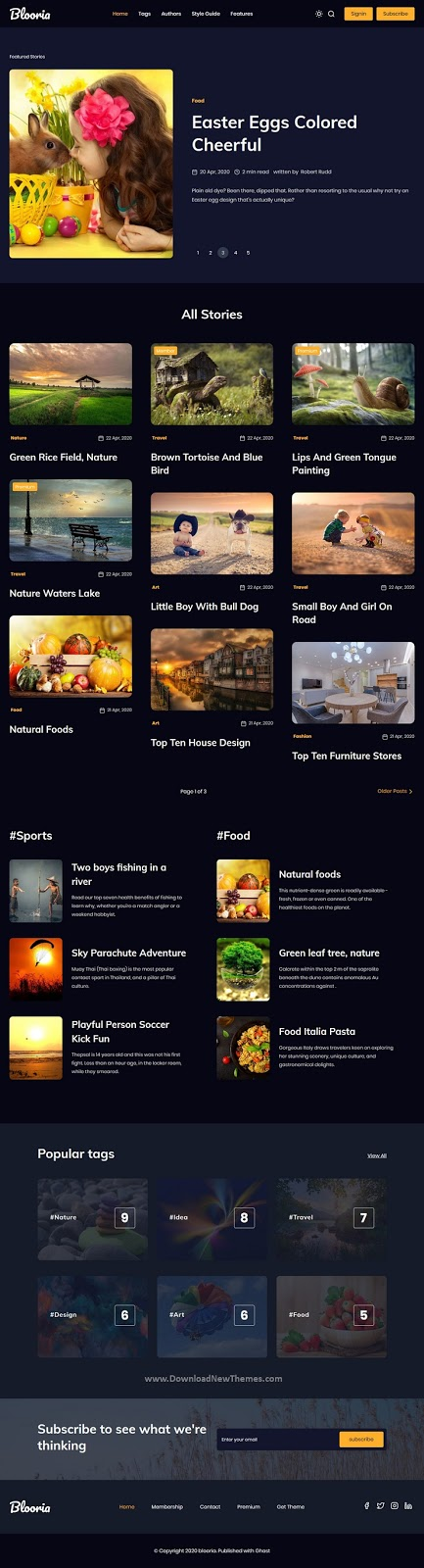 Clean Magazine Ghost Blog Theme
