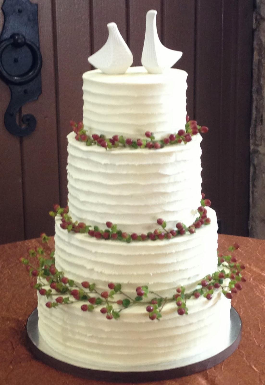 4 Tier Buttercream Wedding Cake - CakeCentral.com