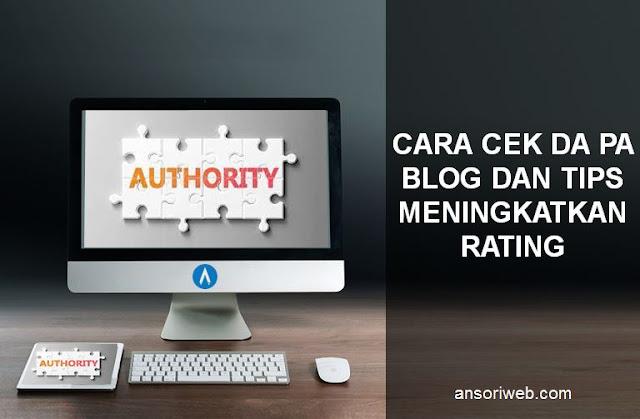 Cara Cek DA PA Blog dan Tips Meningkatkan Rating