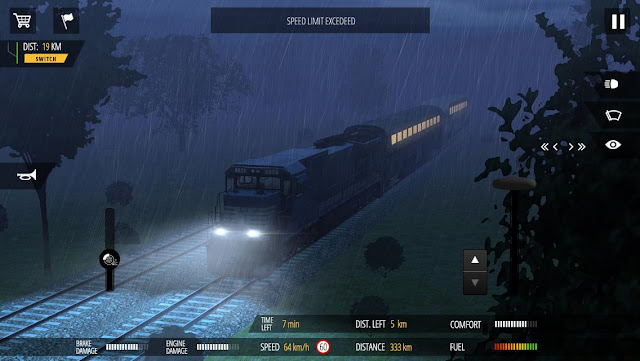 Tampilan Game Train Simulator PRO 2018