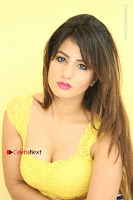 Cute Telugu Actress Shunaya Solanki High Definition Spicy Pos in Yellow Top and Skirt  0252.JPG
