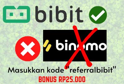 Kode Bibit (Kode Referral Bibit) Dapat Bonus 25 Ribu