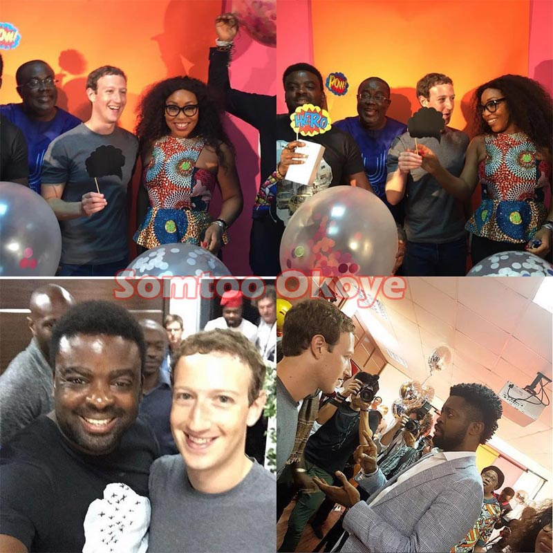 More Nigerian celebrities hang out with Facebook founder Mark Zuckerberg