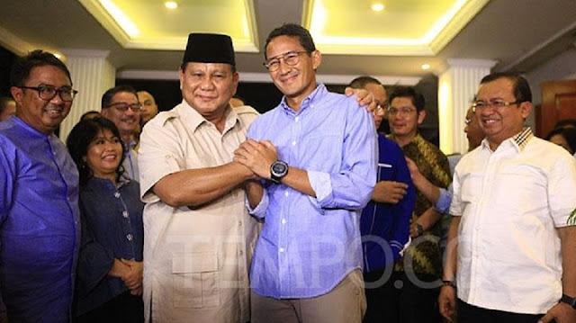 "Sehari Sebelum Bertemu Jokowi, Prabowo Kasih Tahu Sandi ""But it's not include you"""