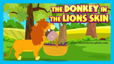 The Donkey in The Lion's Skin Story with pictures and pdf