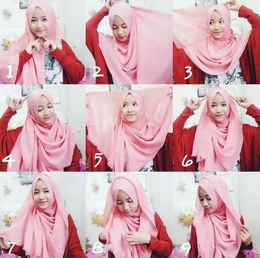 7 Tips Cara Pakai Shawl Pashmina Mudah Untuk Idul Adha 2017