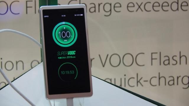 تقنية Super VOOC لشحن البطارية في 15 دقيقة فقط