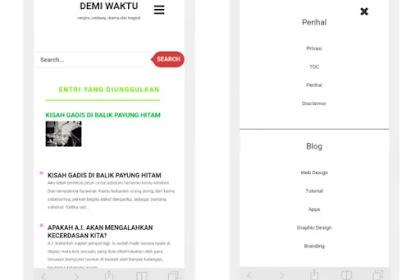 Cara membuat full menu professional dengan tombol hamburger untuk blog