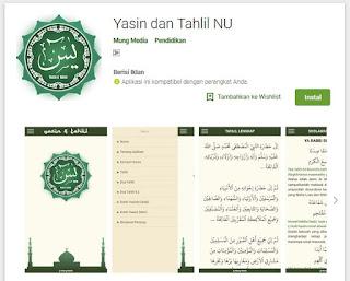 aplikasi yasin dan tahlil arab latin