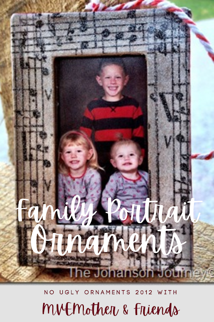 Family Portrait Christmas Ornaments