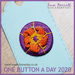 One Button a Day 2020 by Gina Barrett Day 98: Whorl