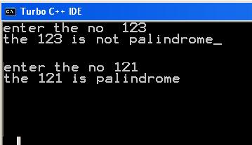 C program to check whether a string is palindrome or not