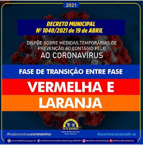 DECRETO MUNICIPAL DE SETE BARRAS n1040/2021 DE 19 DE ABRIL DE 2021