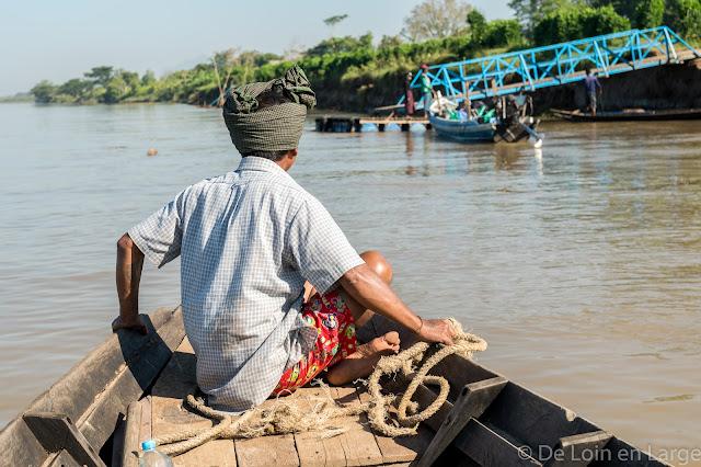 Thanlwin river - Mawlamyine vers Hpa An - Myanmar Birmanie