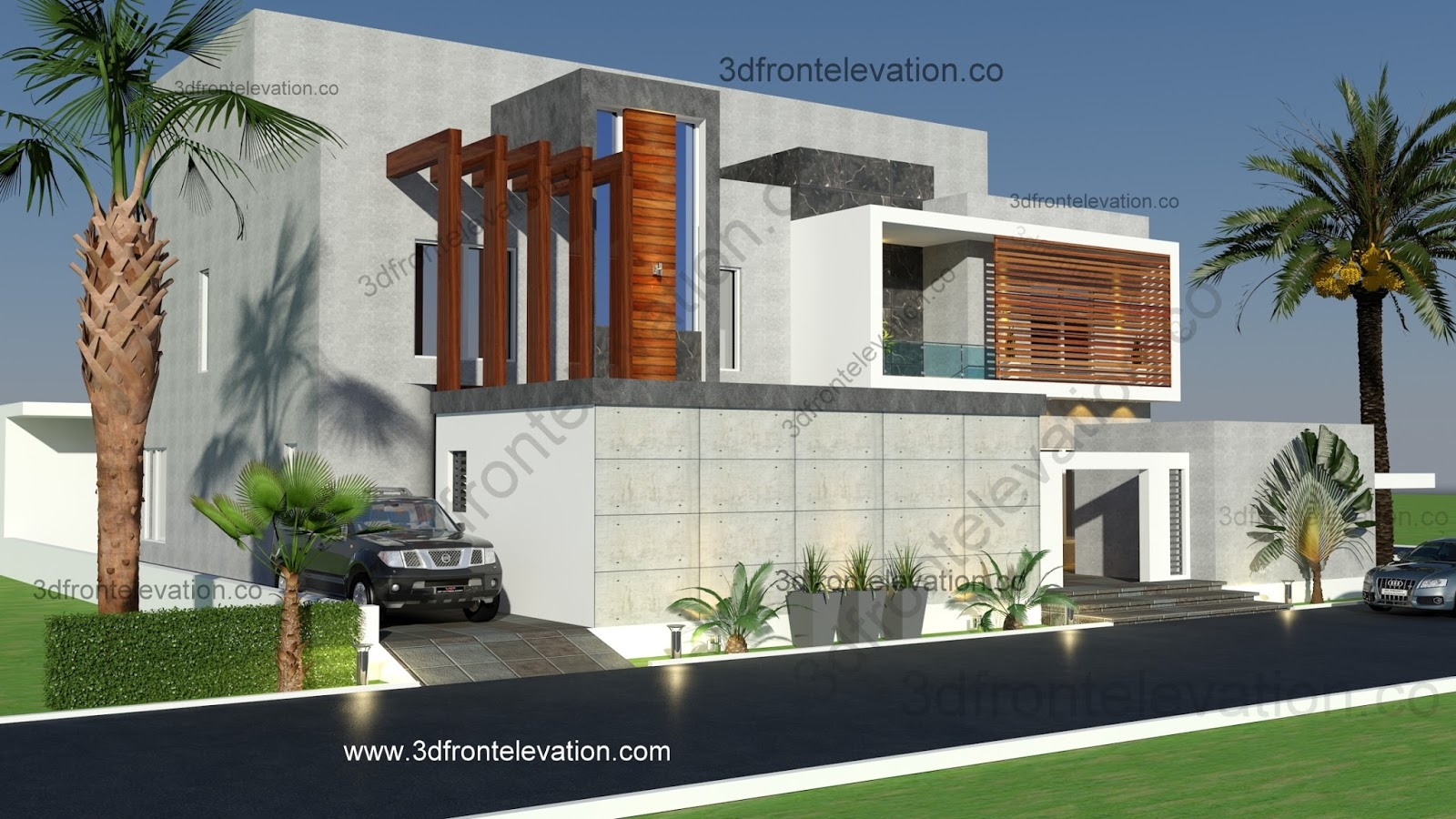 3d Front Elevation Of Houses In Dubai : D front elevation saudi oman muscat qatar dubai