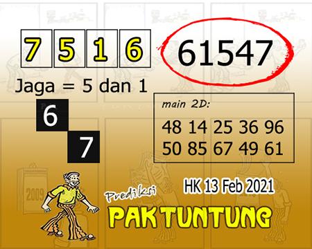 Prediksi Pak Tuntung Hk Sabtu 13 Februari 2021