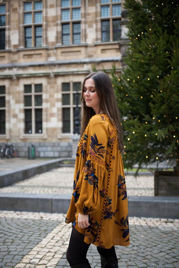 Outfit: boho tunic dress