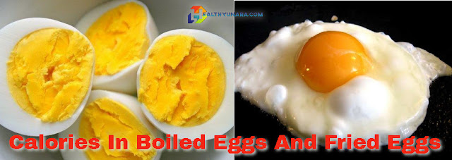 calories in boiled eggs and fried eggs