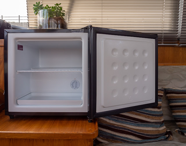 Photo of our freezer after it had been defrosted and cleaned