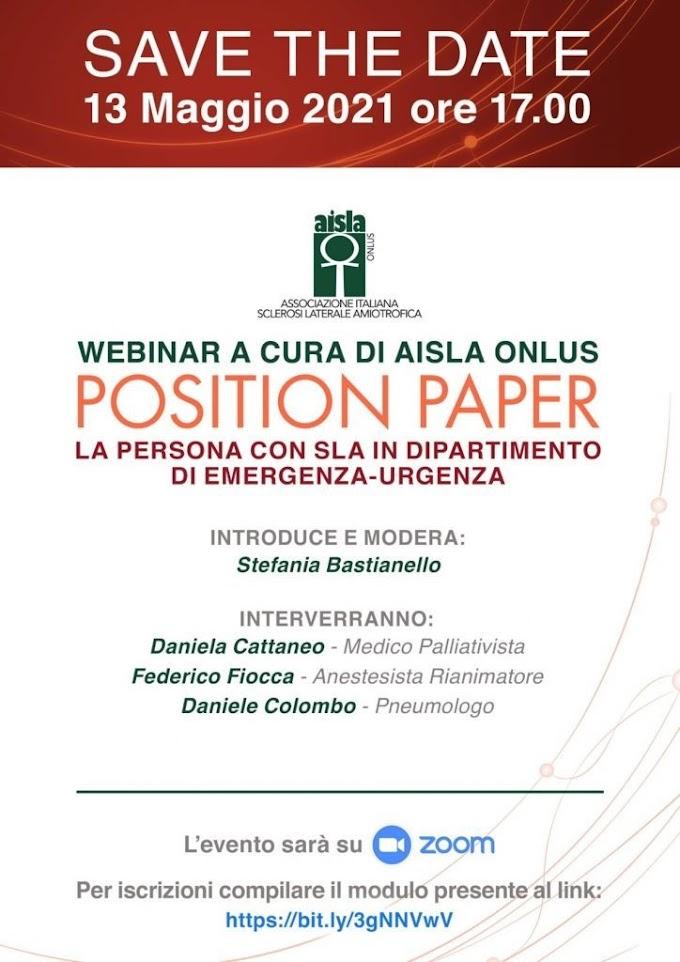 AISLA: il 13 maggio un webinar per le persone con SLA