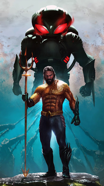 Aquaman phone wallpaper in 1080p