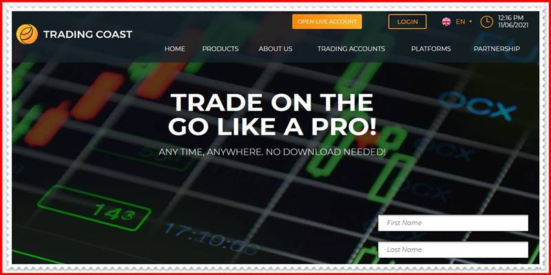 [Мошеннический сайт] trading-coasst.com – Отзывы, развод? Лохотрон, мошенники!