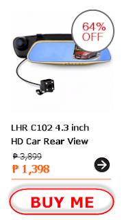 LHR C102 4.3 inch HD Car Rear View Mirror Dash Camera
