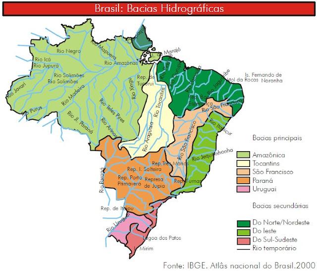 Resultado de imagem para bacia hidrograficas brasileiras