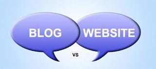 Perbedaan blog dan web
