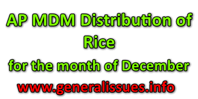 AP MDM Distribution of Rice to all eligible students for the month of December