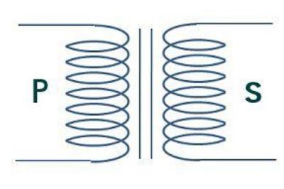 simbol transformator atau simbol trafo dalam rangkaian