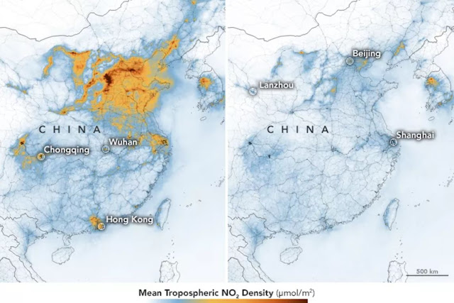 air quality in china map