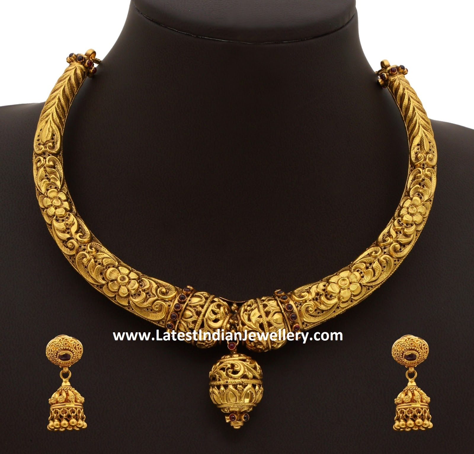75gms Gold Kanti Necklace