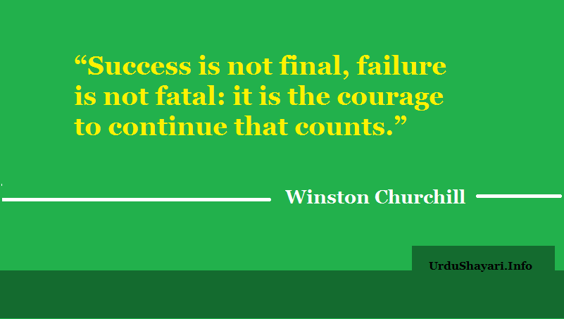 Courage lines, winston chrchill success quotes, true life, deep motivation by life hero