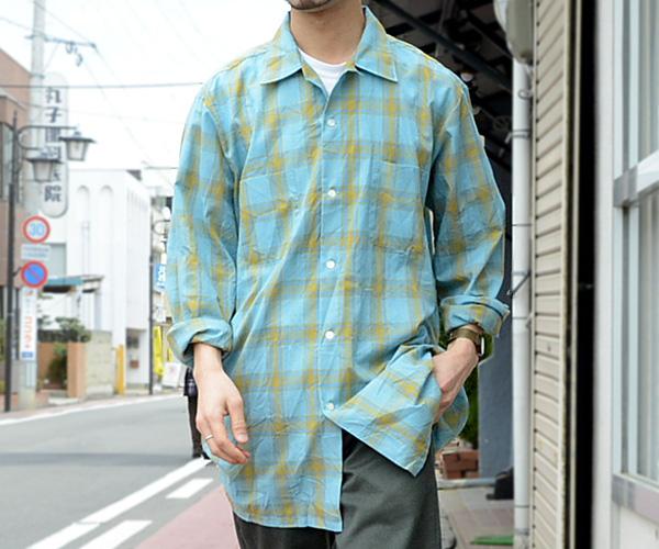 60sビンテージTOWNCRAFTオープンカラーボックスシャツ